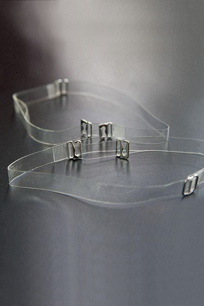 Силиконовые бретели с металлическим крючком шириной 12 мм - 2 шт.