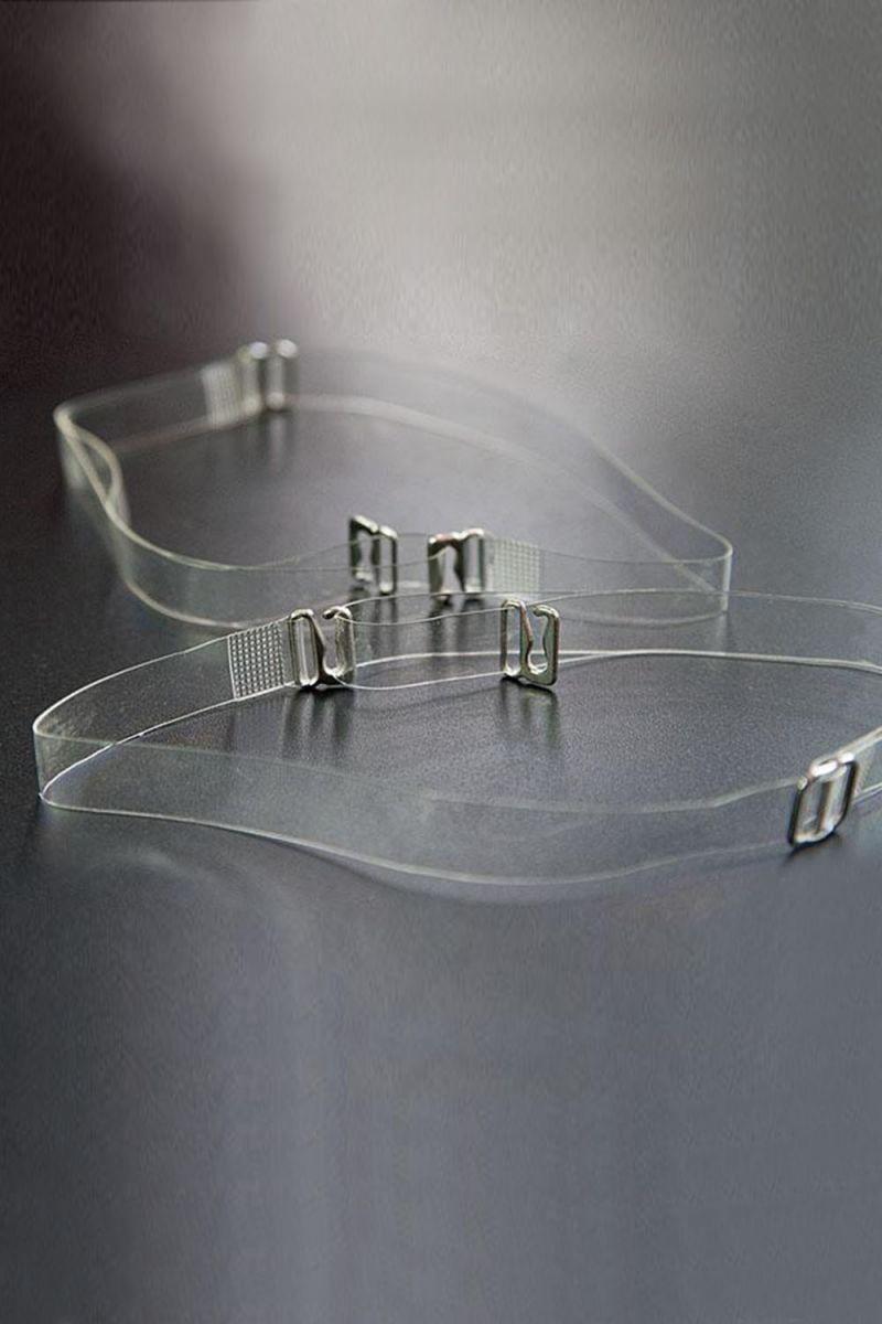 Силиконовые бретели с металлическим крючком шириной 15 мм - 2 шт.
