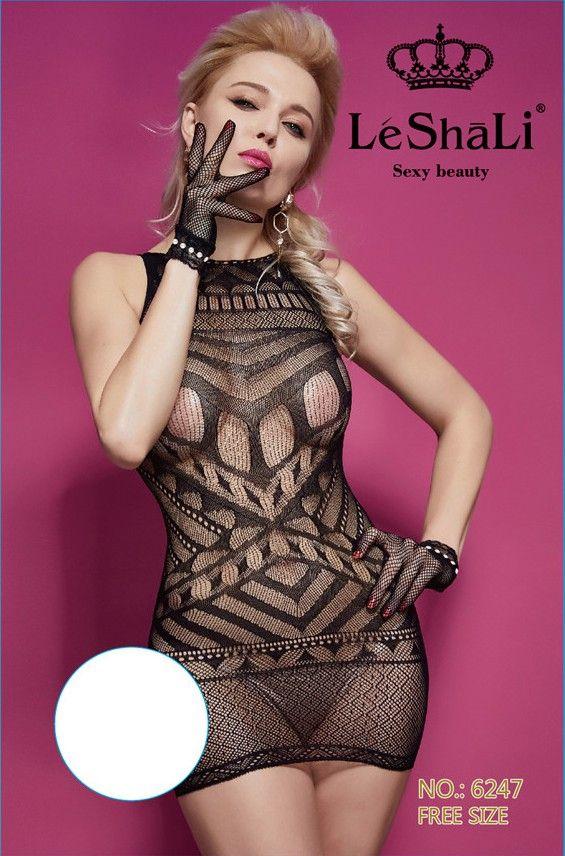 Соблазнительное эротическое платье с перчатками