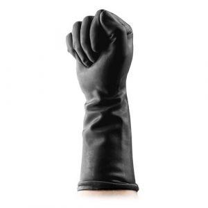 Черные латексные перчатки для фистинга Fisting Gloves