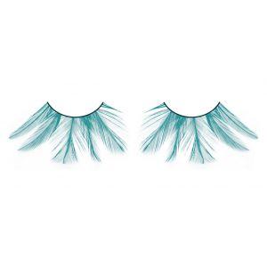 Ярко-голубые ресницы-перья