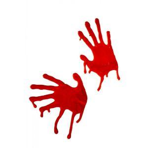 Наклейки на окна - кровавые руки