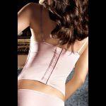Розовый бюстье со светло-серыми кружевными аппликациями Dolce Vita