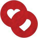 Красные круглые пестисы с сердечками