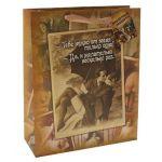 Маленький бумажный пакет  Пикантный подарочек  - 15 х 12 см.!