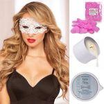Smart Set №2: массажная свеча, лепестки роз и ажурная маска на глаза