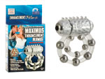 Эрекционное кольцо с массажными шариками и мини вибратором #1204