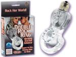 Двойное эрекционное кольцо с микровибратором #1245