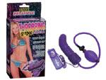 Фиолетовый расширитель с вибрацией для анальной стимуляции или массажа точки G - 15,5 см. #1769