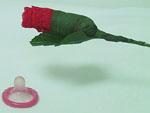 Женские трусики-розочка #353