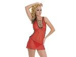 Сексуальное сетевое мини-платье c трусиками #3945