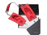 Красные шелковые наручники с цепочкой Sutra (LELO) #5396