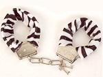 Меховые наручники - Зебра #5789