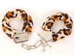 Леопардовые наручники с меховой опушкой от ToyFa #5791