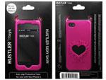 Розовый чехол HUSTLER из силикона для iPhone 4, 4S #6336