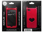 Красный чехол HUSTLER из силикона для iPhone 4, 4S #6337