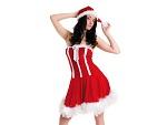 Новогоднее платье и шапочка #6920