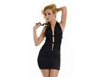 Платье с глубоким декольте и открытой спинкой #6939
