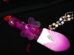"""Фиолетовый вибро-ротатор со стимулятором точки G """"Порхающая бабочка"""" #6980"""