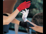 Короткие атласные перчаточки #7265