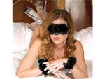 Романтичный набор - маска и перьевые браслеты BINDING UNION KIT #7958