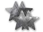 Комплект из 1 пары графитовых пэстис-звездочек с блестками и 1 пары графитовых пэстис-звёздочек с гладкой поверхностью #8006