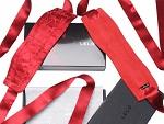 Красные шелковые наручники Etherea (LELO) #8287