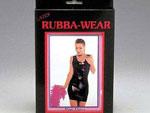 Латексное черное платье #870