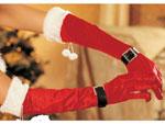Перчатки бархатные новогодние #9380