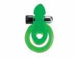 Эрекционное кольцо с минивибратором и подхватыванием мошонки - Черепашка #10465