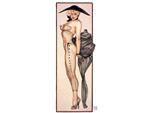 Прозрачный комбинезон-чулок с рисунком и перчатки из коллекции Оливия #11097