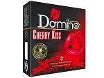 Презервативы Domino Cherry Kiss со вкусом вишни - 3 шт. #12384