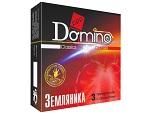 "Ароматизированные презервативы Domino ""Земляника"" - 3 шт. #12388"
