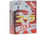 Ароматизированные презервативы Sagami Xtreme COLA - 3 шт. #12399