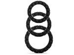 Чёрные эрекционные кольца Silicone Love Wheel 3 sizes с пупырышками (3 шт.) #13092
