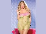 Яркое платье-сетка с бахромой на груди #13180