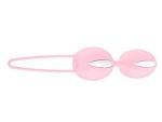 Нежно-розовые вагинальные шарики Smartballs Duo #13392