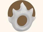 Белое эрекционное кольцо Flame #13503