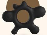 Черное эрекционное кольцо Rain #13504