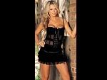 Шифоновая юбка с оборками и шелковой лентой #13968