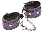 Фиолетовые кожаные наручники X-Play #14276