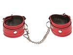 Красные кожаные наручники X-Play #14278