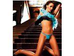 Голубые трусики-стринг с заниженной талией Neon Barock #14841