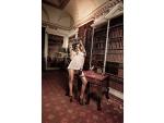 Кружевной пеньюар Agent Of Love цвета слоновой кости со шнурками сзади #15047