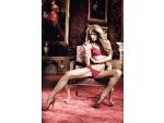 Бордовый комплект бикини - бюстгальтер и трусики в горошек Have Fun Princess #15150