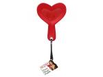 Шлепалка в форме сердца FURRY HEART PADDLE - 24 см. #16177