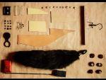 Большая анальная пробка черного цвета с черным лисьим хвостом #16582