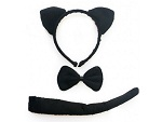 Чёрный набор кошки #16754