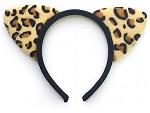 Ободок с леопардовыми ушками #16773