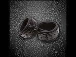 Черные соединенные цепью наручники SINFUL WRIST CUFFS #17615
